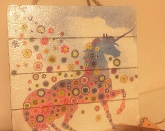 Unicorn wall/door hanger