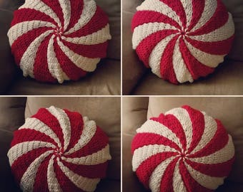 Peppermint Pillow - crochet