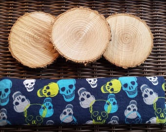 Soothing bag for Migraine / headache, heating pad, cold, flannel, skulls, skull