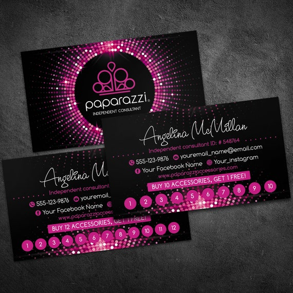 Paparazzi Clip Art Business Cards Clipart Library - Paparazzi business card template