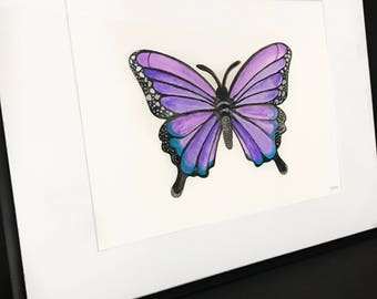 Butterfly made of Purple