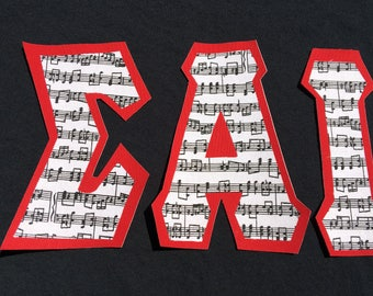 Music Notes T-shirt (ΣAI)