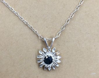 Silver 925 & Blue Stone necklace