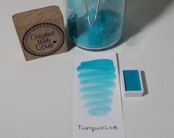 Handmade watercolor Turquoise