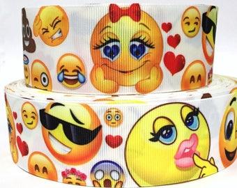 "Grosgrain Ribbon 1.5"" Emoji EJ6 USA SELLER"
