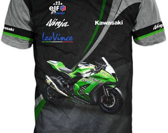 New Ultramodern 3D High Quality Kawasaki  Racing  Team Mens  T-shirt