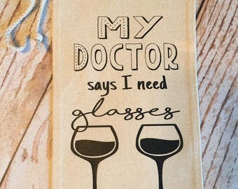 My Doctor Says I Need Glasses Wine Bag