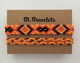 Friendship bracelets straps yellow/orange-3.00