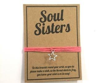 Soul Sister friendship charm wish bracelet