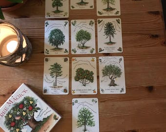 Oracle Card Reading Tree Magick 10 Cards.