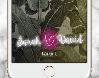 Custom Snapchat Filter, Snapchat Geofilter Bachelorette, Bachelorette Party Favors, Bridal Shower Snapchat Filter, Custom Neon Sign, Heart