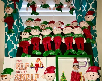 """Custom Named ELF's """"Similar to the Elf on a shelf"""" ,Perfect for Christmas, Going Fast get yours today before we sell out !!"""