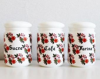 White Kitchen Jars kitchen canisters   etsy