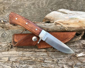 Handmade Bushcraft Knife in 1084 Carbon Steel