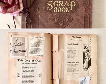 Vintage Love Poem Scrapbook- Poetry -1940's