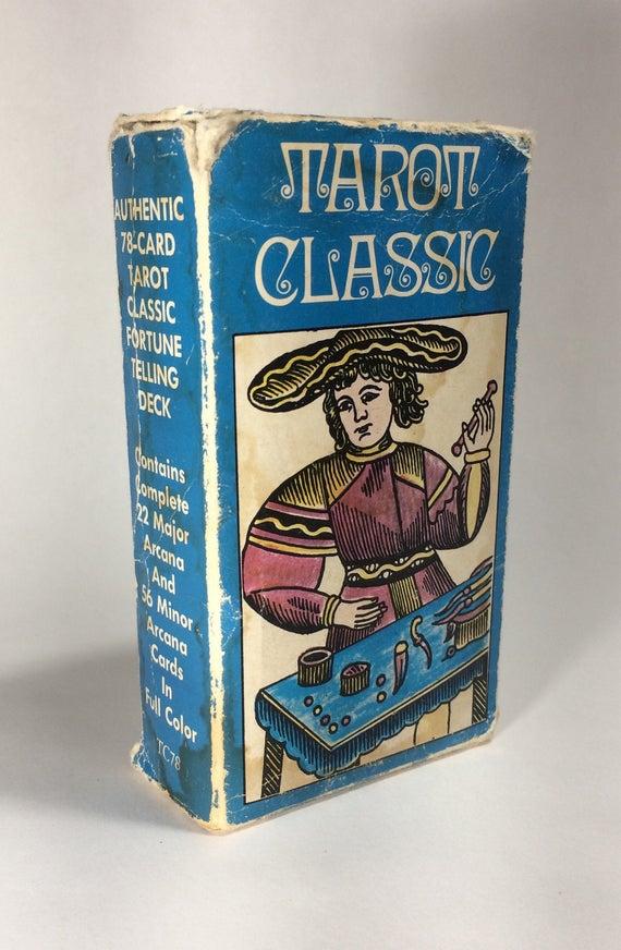 Rare Vintage Tarot Cards / 1974 Antique Tarot Classic / Tarot