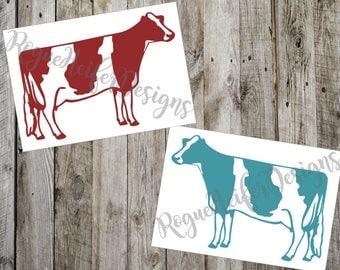 Dairy Cow Decal - Stockshow - Livestock - Cow, Steer, Bull, Calf, Phone Decal, Yeti Decal, Beef, Holstein Jersey monogram personalized