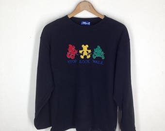 Rare Vtg Mickey Mouse Tokyo Disneyland Sweatshirt Size M