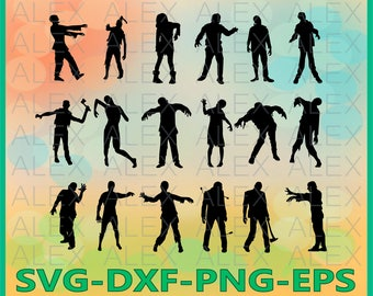 70% OFF, Zombies Svg, Zombie png, eps, svg, dxf, Zombie Clipart, Zombie Svg Silhouettes, Silhouette Files, Cut Png File