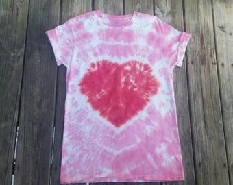 Custom tie dye shirt, heart tie dye, hippie top, heart shirt, tie dye t-shirt, tie dye tshirt, tie dye tee, heart, tiedye, heart tie-dye