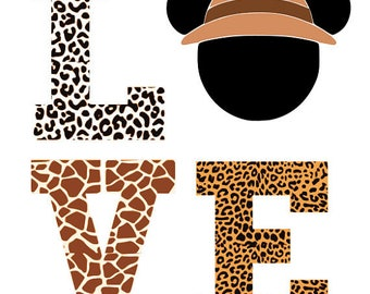 Animal Kingdom Love .svg file for Cricut and Silhouette - Disney file