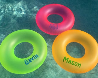 Monogrammed Pool Floats, Personalized, bachelorette party, summer float