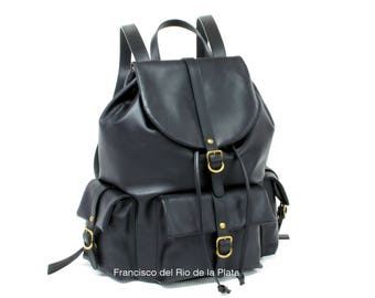 Leather backpack, backpack genuine leather