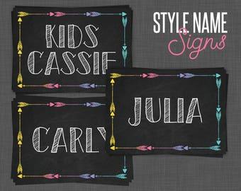 Lularoe Cards, Lularoe Signs, Lularoe Style Name Cards, Size Cards - Chalkboard, Lularoe Black
