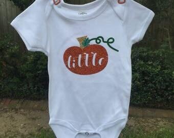 Little Pumpkin Onesie for the Fall & Thanksgiving infant