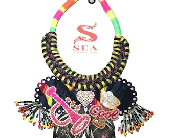 Butterfly Statement Necklace -Collar Mariposa- Unique Piece -Pieza Unica #UniversoSEA Saidy El Alam