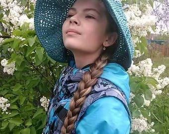hat women's summer hat crocheted summer hat sun hat female summer hat pattern hat order to do hat handmade hat