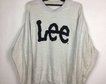 Vintage LEE Big Logo Sweatshirt Crewneck 90s Size M