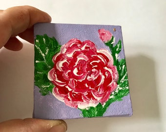 Personalised Mother's Day Card // Mini canvas // Thank You card // Hydrangea painting // Anniversary Card // Wedding card // Flower