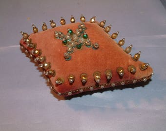 Delightful 1900,s Glass Beaded Pin Cushion