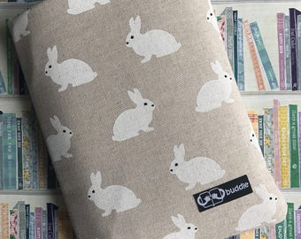 Buddle, small, padded book cover/sleeve (bunnies)