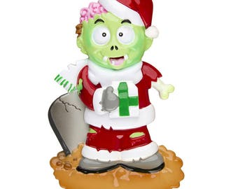 Zombie Personalized Christmas Tree Ornament