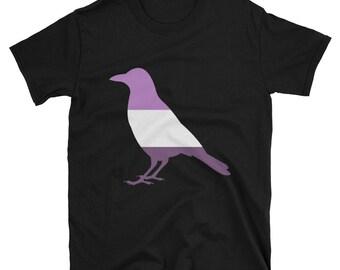 Queer Pride Crow Unisex T-Shirt lgbtq lgbt lgbtqipa queer gay transgender mogai