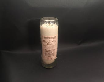 High West Candle Midwinter Nights Dram Rye WHISKEY BOTTLE Candle Tall Cut.Made to Order!!!!