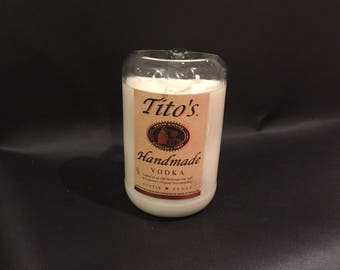 1.75 Liter Vs 750ML Tito's Vodka Candle. Made To Order !!!!!- 3 LBS of Soy Wax
