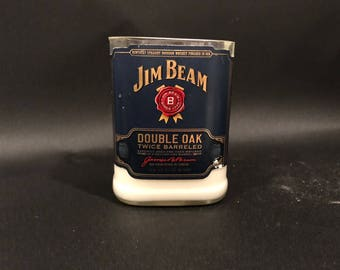 Jim Beam Double Oak Bourbon Whiskey Bottle  Soy Candle. 750ML  Made To Order !!!!!!!