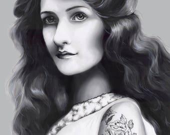 1900 Portrait Print