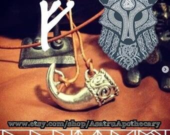Odin's Mead Horn Pendant, Viking Mead Horn Pendant, Pewter Drinking Horn Pendant, berserker, Viking horn, mead horn, drinking horn.