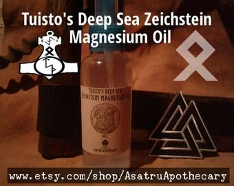 Tuisto's Deep Sea Zeichstein Magnesium Oil 4 oz.   and Valknut morale patch