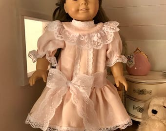Pink Lacey Picnic Dress for American Girl Samantha