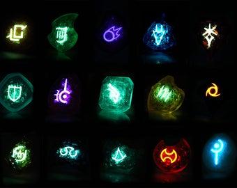 FFXIV Glow in the Dark Soul Crystal/Job Stone Collectors Edition Bundle FF14 Final Fantasy 14 Crystal/Stone Bundle