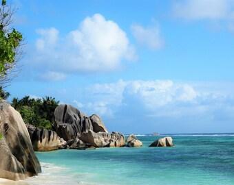Tropical Island - Mahe, Seychelles / Beach Photo Download / JPEG Download / Photo Download / Paradise Beach Photo / Wall Art / Postcard JPG