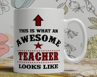 Awesome teacher mug teacher gift mug teacher coffee mug teacher gift idea teacher mug teaching coffee mug teaching gift idea AW Teacher