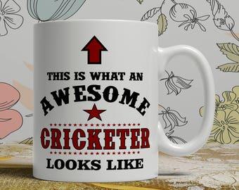Awesome cricketer mug cricketer gift mug cricketer coffee mug cricketer gift idea cricketer mug cricket coffee mug cricket gift idea E1041
