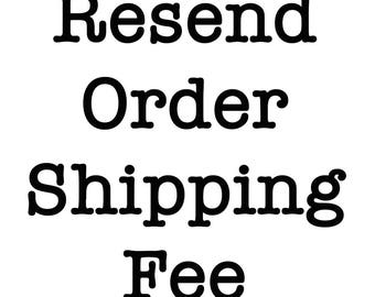Resend Order - Reshipping Fee