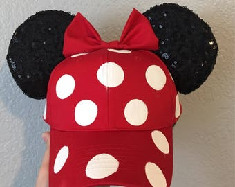 Polka Dot Minnie Inspired Mouse Ear Hat